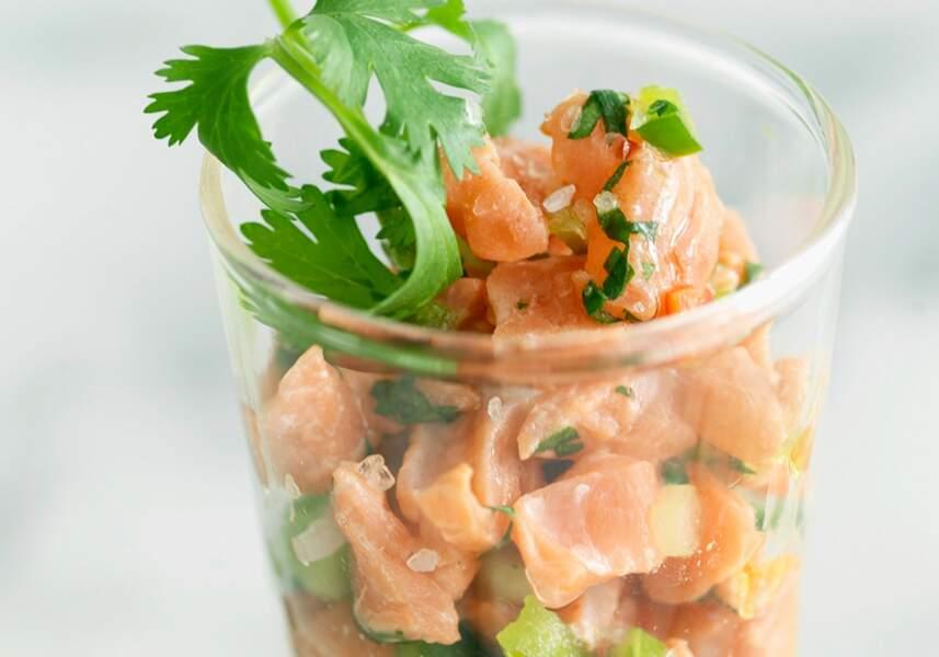 Ceviche de saumon au poivron