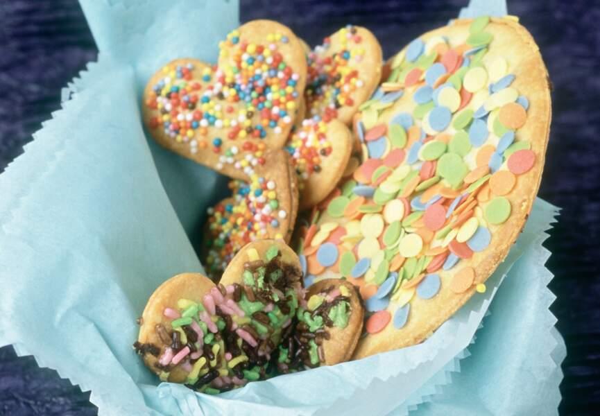 Sablés au sucre multicolore