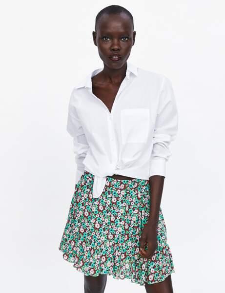 Zara: la jupe à fleurs
