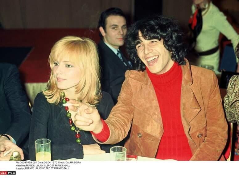 Julien Clerc et France Gall se rencontrent en 1969...