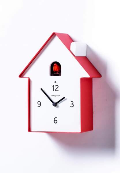 Horloges : le modèle maisonnette Cerise sur la Déco