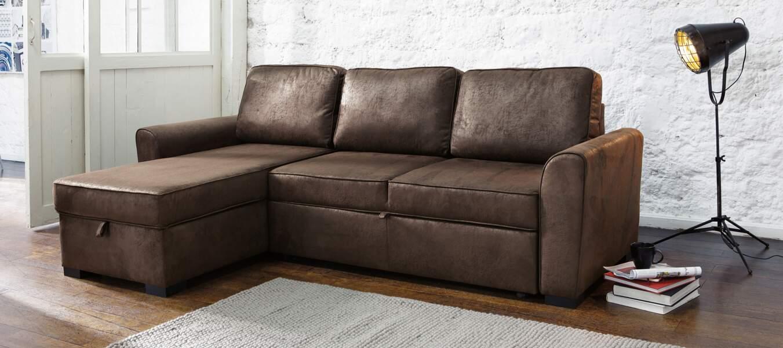 Canapé d'angle façon cuir