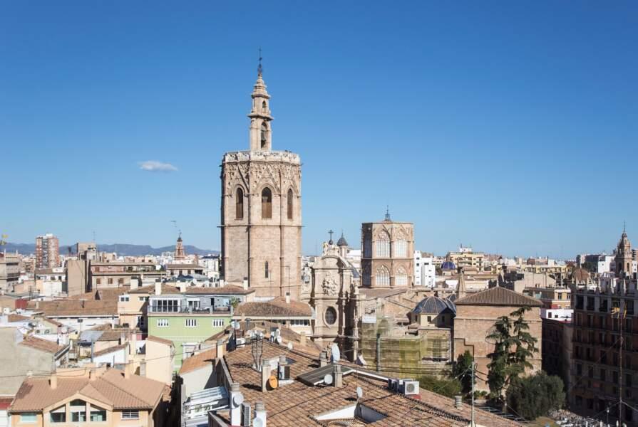 vue aérienne de Valencia