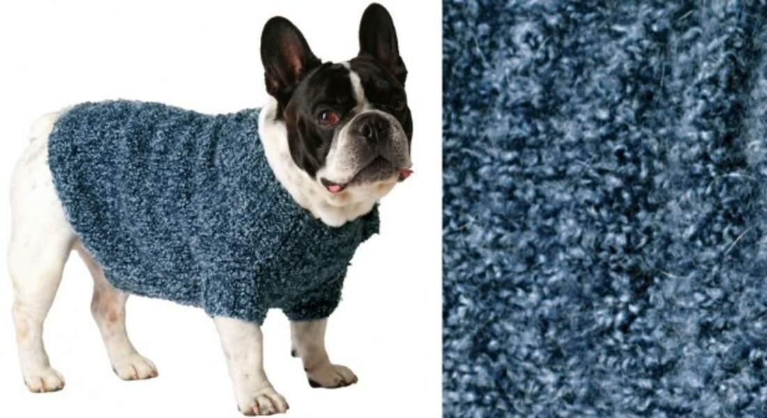 Un manteau pour chien au point jersey
