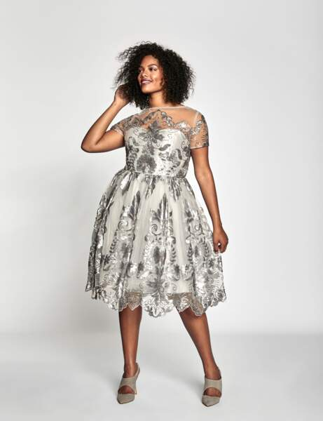 Mode grande taille : argent