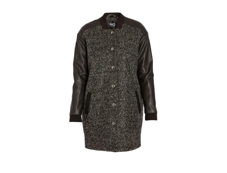 Manteau bi-matière Morgan