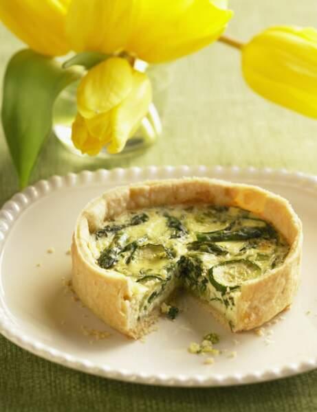 Tarte aux courgettes et au fromage de brebis