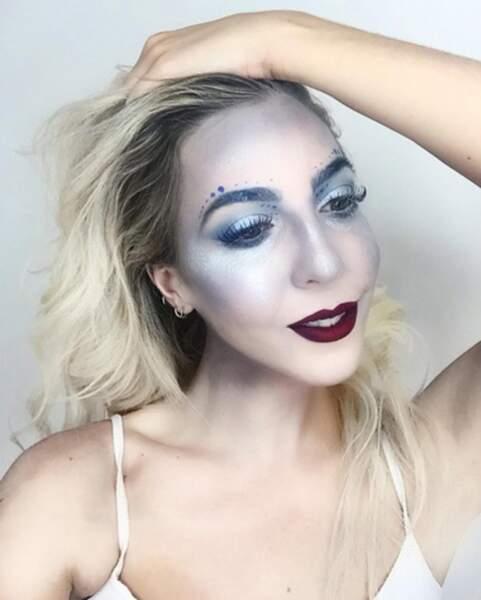 Maquillage d'Halloween effet aquatique