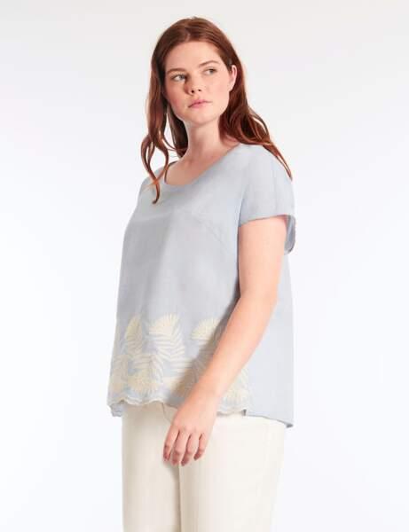 Mode grande taille : la blouse à broderies