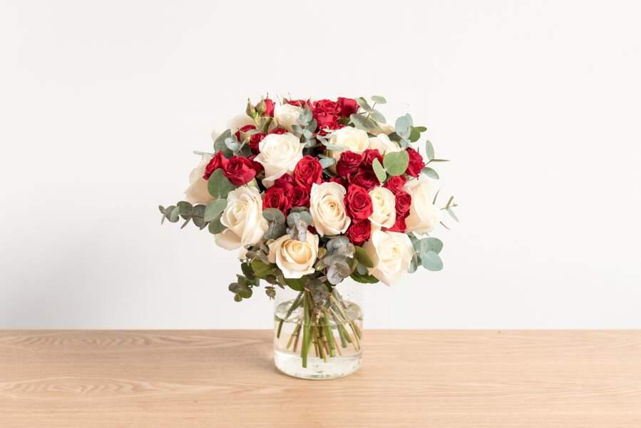 Bouquet de Saint Valentin rouge - Bergamotte