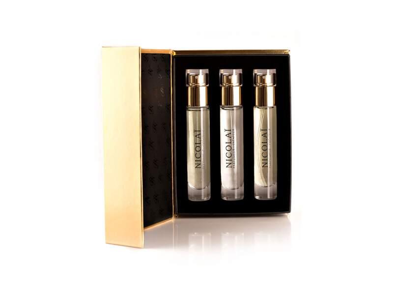 Coffret Oud 3 sprays de 15 ml, Nicolaï, prix indicatif : 100 €