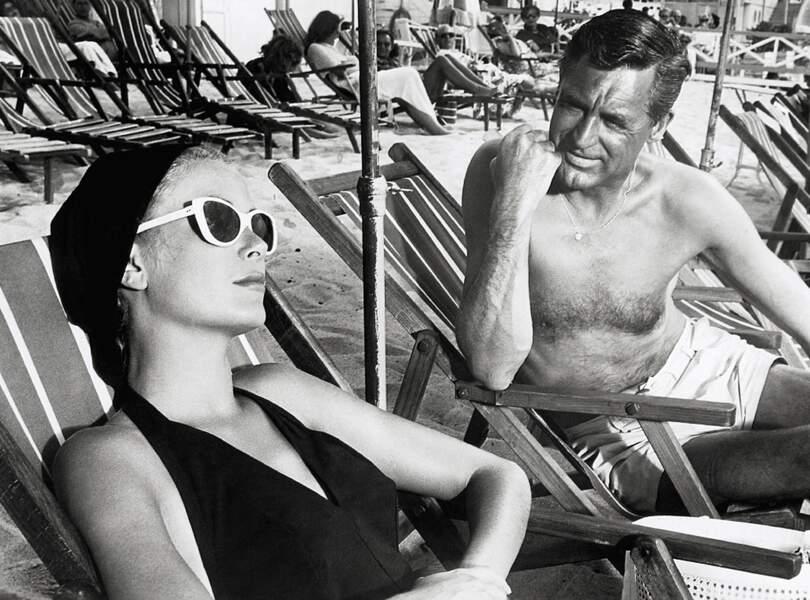 Grace Kelly et Cary Grant en 1954