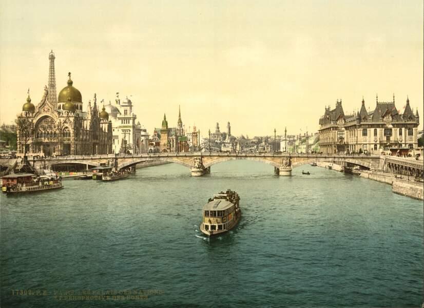 Le pavillon des Nations, lors de l'Exposition universelle de 1900 à Paris