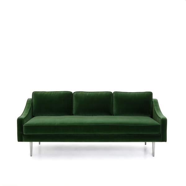 Canapé velours vert Alinéa