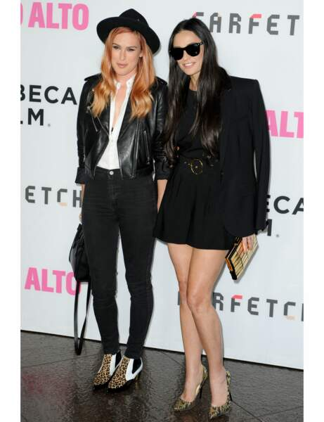 Demi Moore et Rumer Willis : rock
