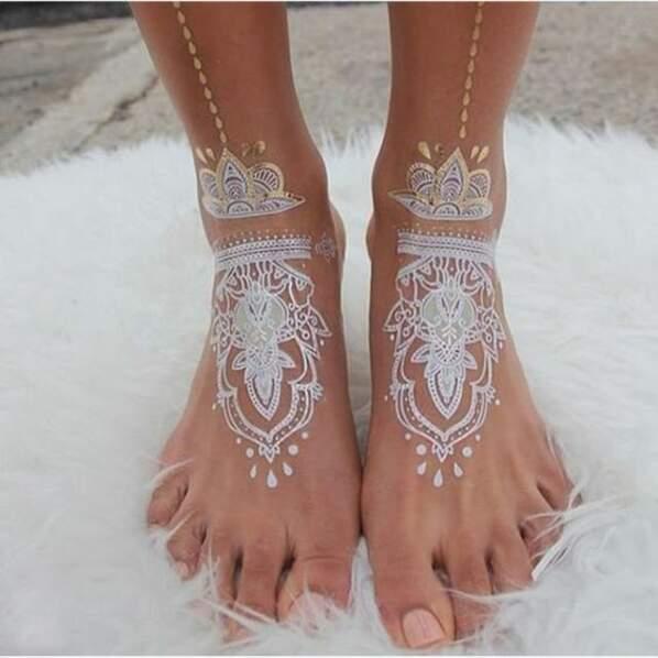 Le henné blanc, ultra tendance