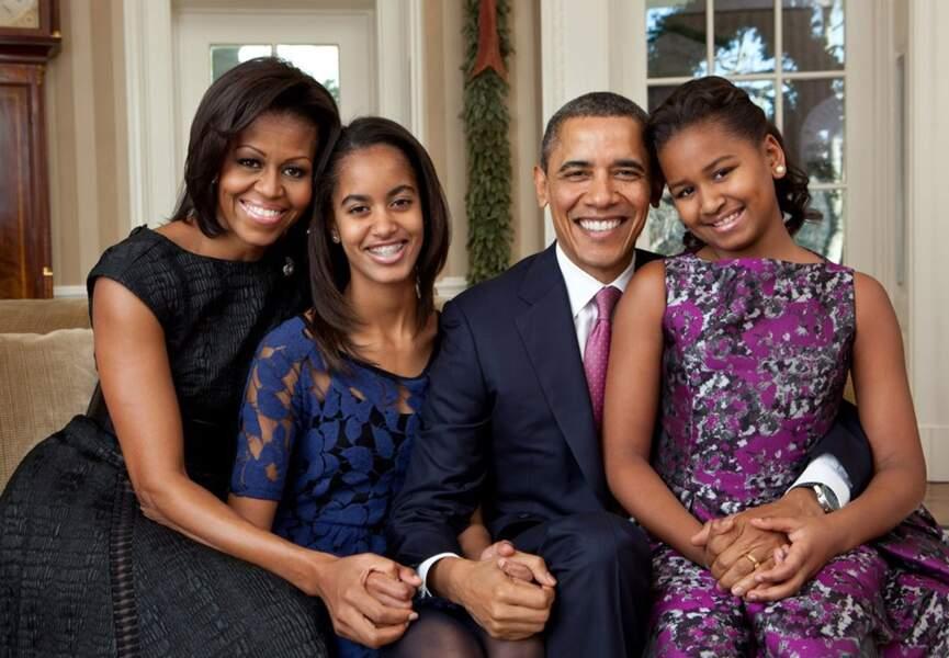 Portrait officiel de la famille Obama, décembre 2011