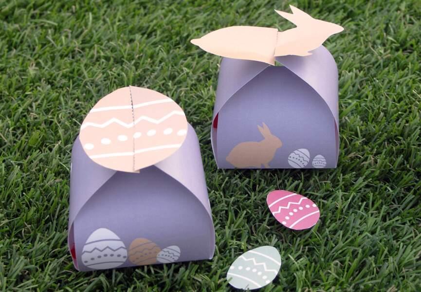 Des boîtes de Pâques à télécharger