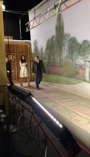 Kate Middleton visite le plateau