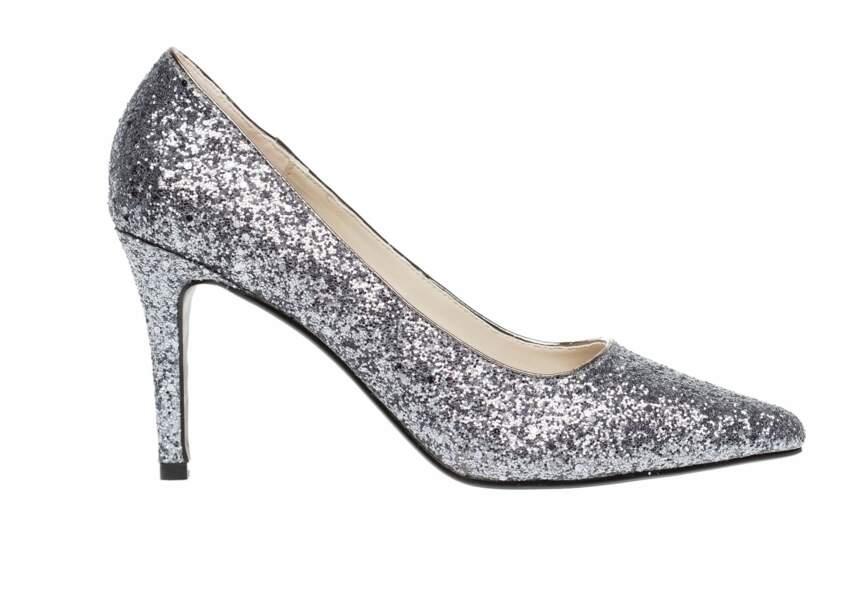 Chaussures de soirée : les escarpins glitter