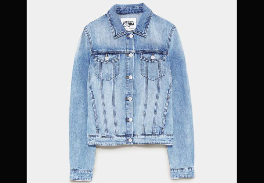 Nouveautés Zara: la veste en jean