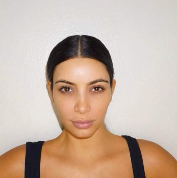 Kim Kardashian comme on la voit rarement