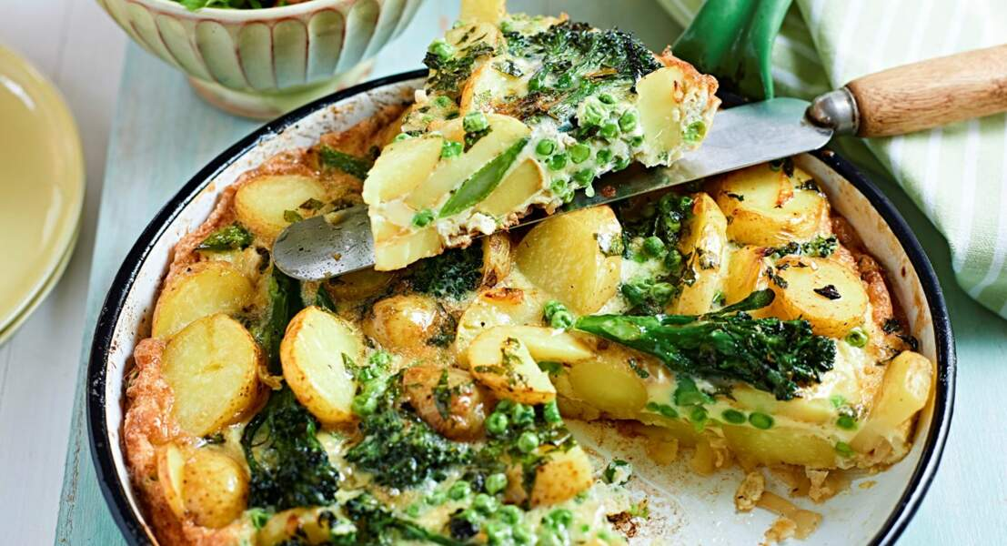 Frittata de pommes de terre et brocoli