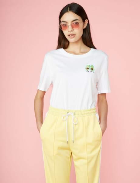Tee-shirt blanc : gourmand