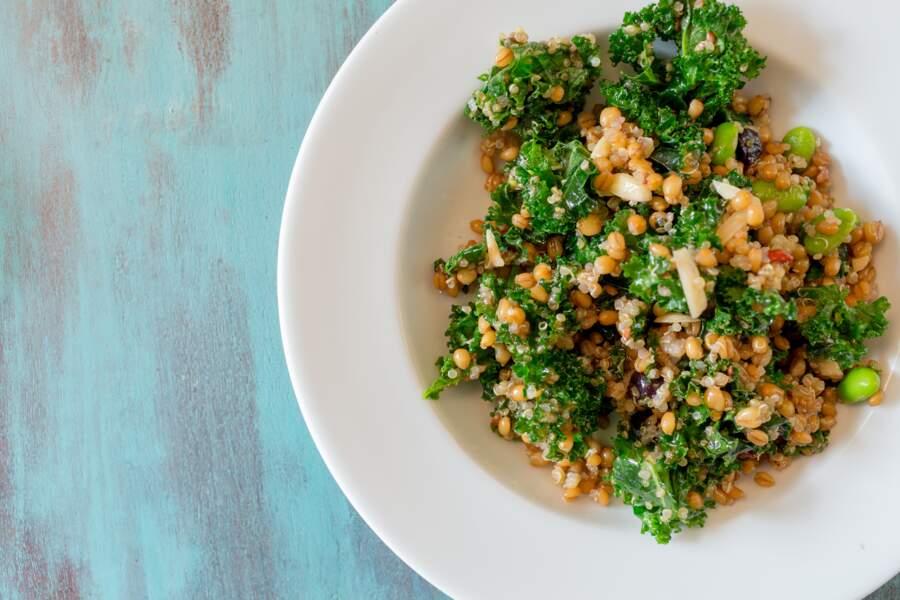 Pilaf au quinoa et kale sucré-salé