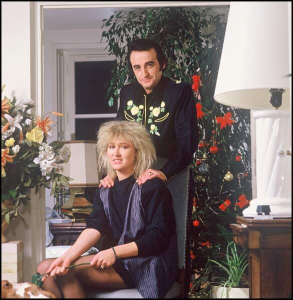 Dick Rivers et sa femme Babette en 1988.