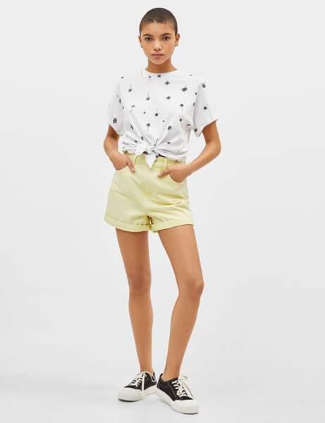 Tee-shirt blanc : tropical