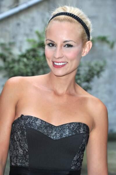 Elodie Gossuin à la conférence de presse de rentrée de France 4, à Paris, le 13 septembre 2011.