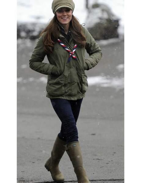 Kate Middleton : les bottes de pluie Le Chameau