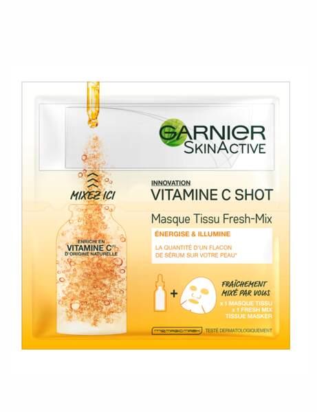 Masque tissu vitamine C shot de Garnier