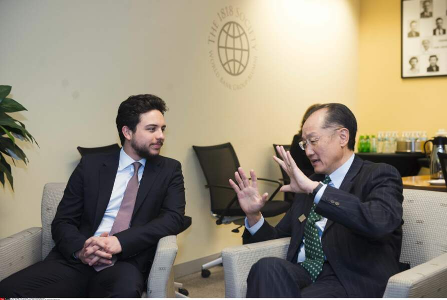 Le prince Hussein et Jim Yong Kim, président de la World Bank Group, le 15 avril 2016