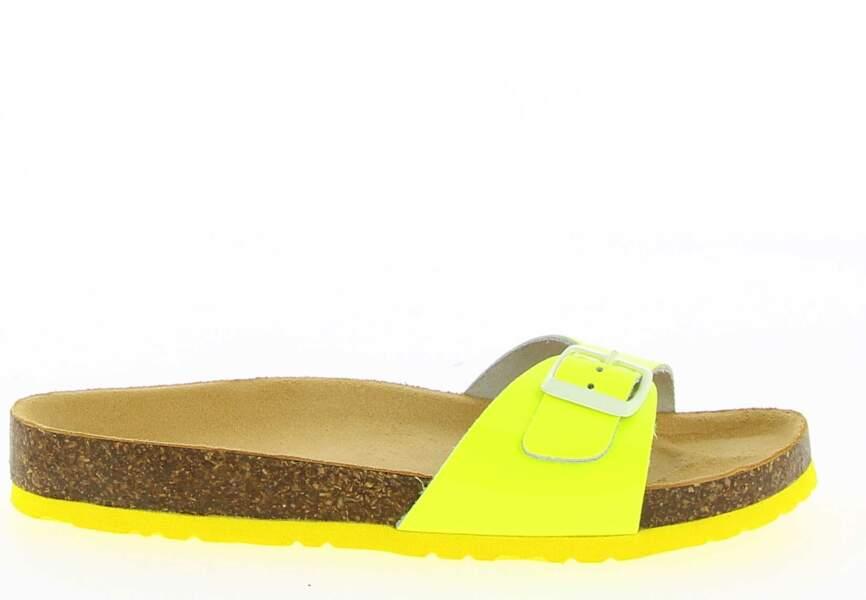Sandales : fluo