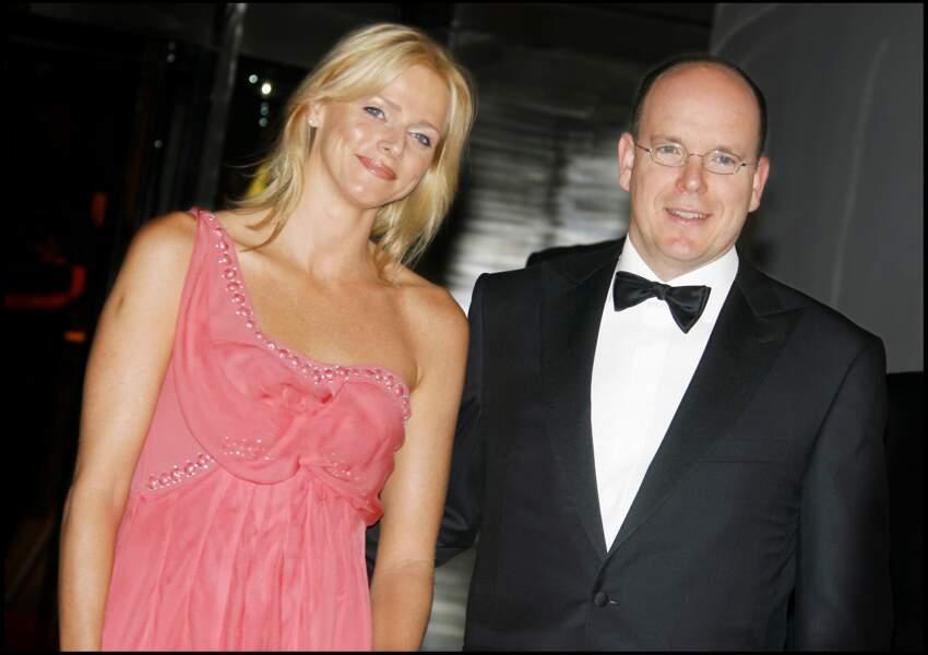 Le prince Albert II de Monaco et Charlène Wittstock à la soirée de gala du grand prix de Formule 1 en 2007.