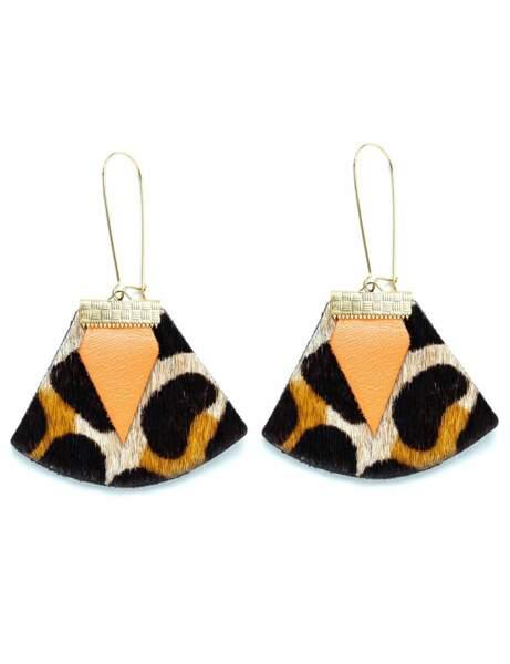 Tendance orange : les boucles léopard