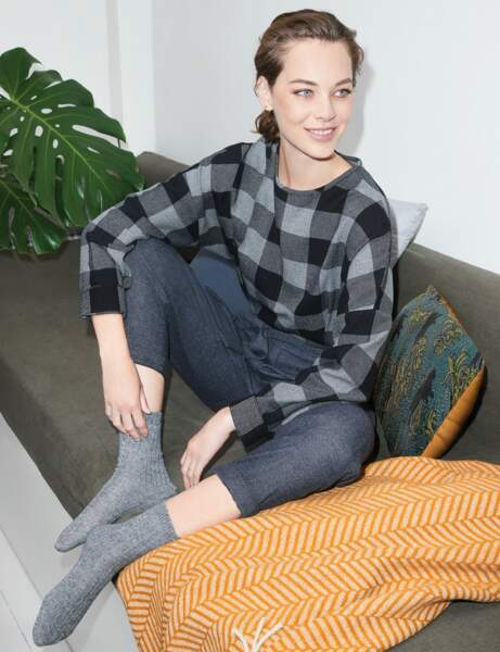 Mode cocooning : le look gris souris