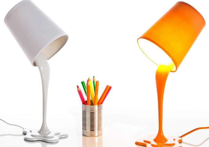 Lampe pot de peinture