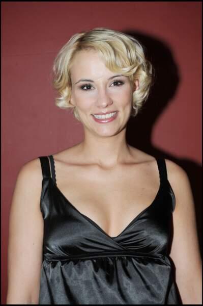 """Elodie Gossuin lors de la soirée de lancement de la série """"Casting sanglant"""" sur TF6 le 29 avril 2008."""