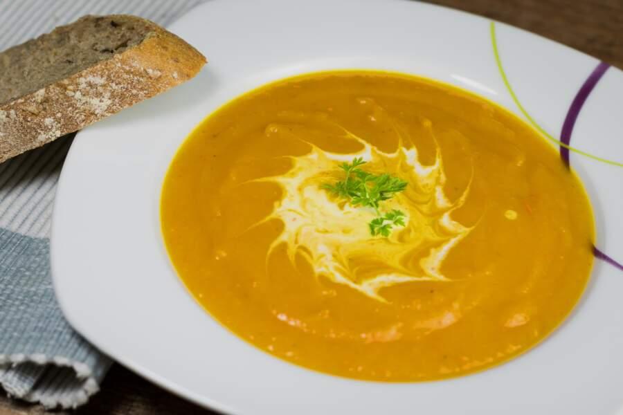 Soupe de potimarron au citron confit