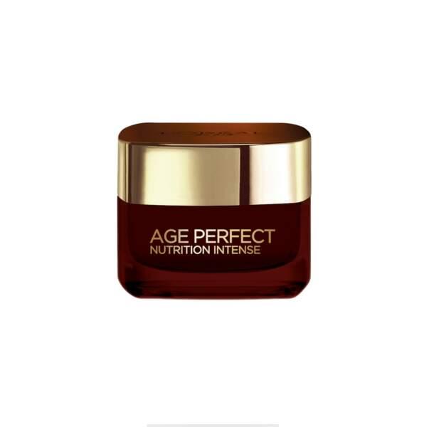 Soin de Jour Age Perfect Nutrition Intense, L'Oréal Paris, pot 50ml, prix indicatif : 18,50 €