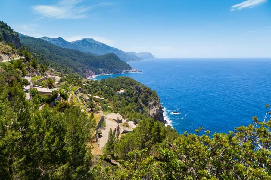 Les montagnes de la Serra de Tramuntana à Majorque