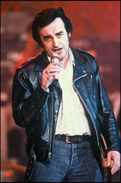 """Dick Rivers à l'enregistrement de l'émission """"Farandole n°12"""" en 1988."""