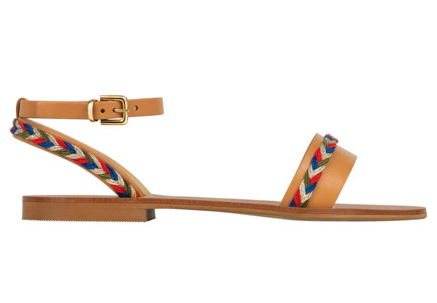 Sandales : camel