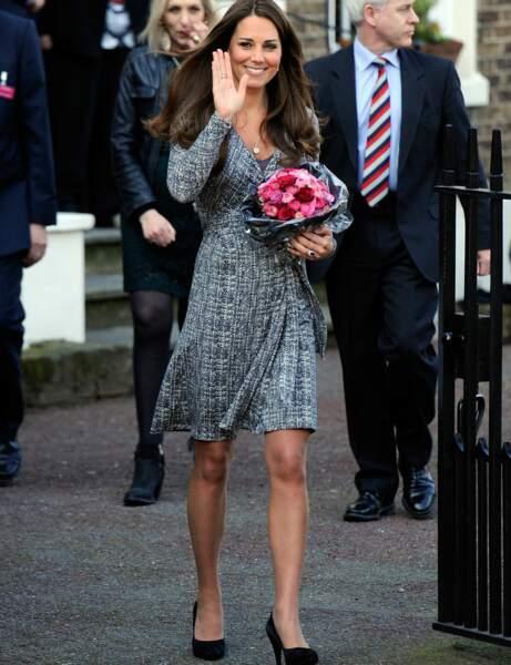 Kate Middleton : la robe portefeuille Max Mara