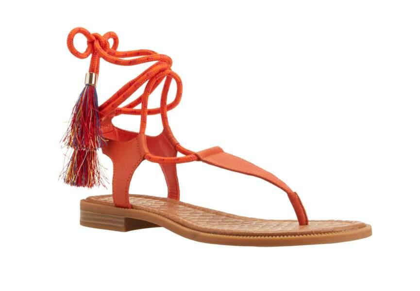 Sandales : rouge