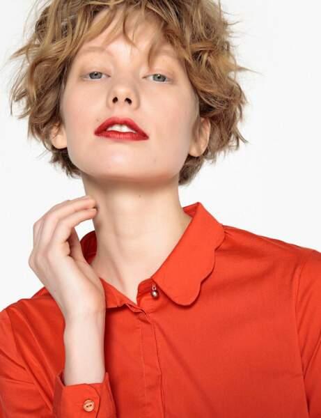 Tendance orange : la chemise claudine