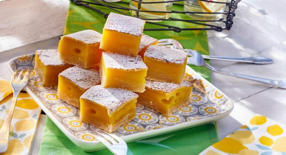 Carrés fondants au citron